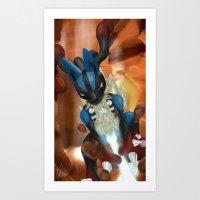 Bone Rush! Art Print