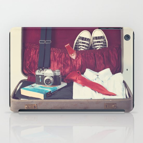 Vintage Journey Suitcase (His) (Retro and Vintage Still Life Photography) iPad Case