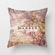 Throw Pillow featuring Wander by Sylvia Cook Photogra…