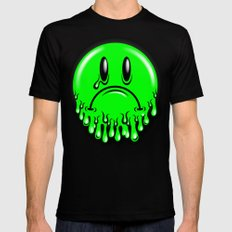Slimey - neon green Mens Fitted Tee Black SMALL