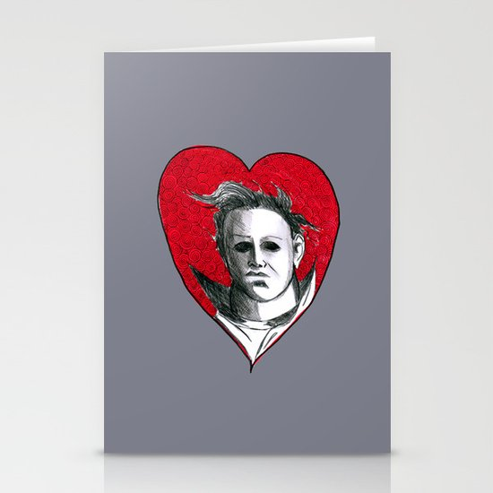 Micheal Myers (All Heart) Stationery Card