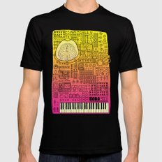 Borg 3000: ANALOG  Mens Fitted Tee Black SMALL