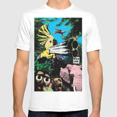 Wildlife Mens Fitted Tee White SMALL