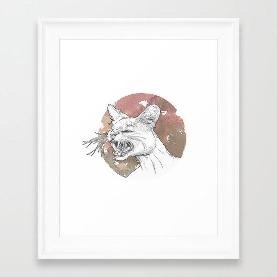 Bastet Unrequited Framed Art Print