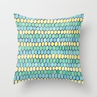 Watercolour Honeycomb Ta… Throw Pillow
