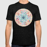 Paradise Doodle Mens Fitted Tee Tri-Black SMALL