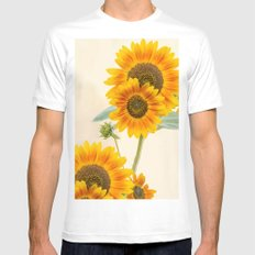 Sunflowers paterns White Mens Fitted Tee SMALL
