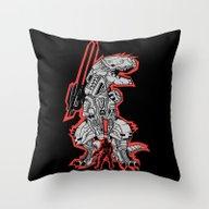 Metal Gear T.REX Throw Pillow