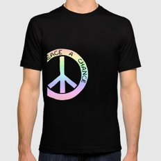 Give Peace a Chance Mens Fitted Tee Black SMALL