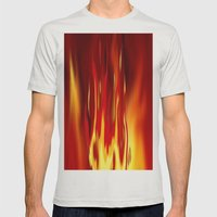 Into the fire 2. Mens Fitted Tee Silver SMALL