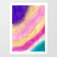 Rainbow Clouding Art Print