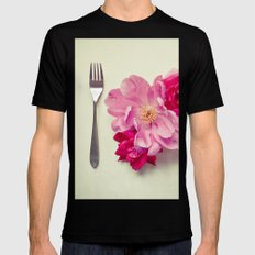 You Are What You Eat - White Black SMALL Mens Fitted Tee
