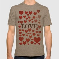 Love Heart Valentines De… Mens Fitted Tee Tri-Coffee SMALL