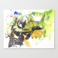 Boba Fett Firing Off Gre… Canvas Print