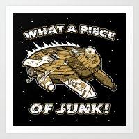 What a Piece of Junk! Art Print