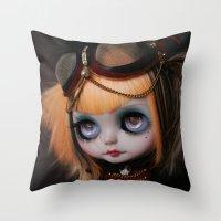 FREAKCIRCUS (Ooak BLYTHE… Throw Pillow