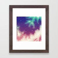 Rainbow Nebula (8bit) Framed Art Print