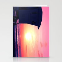 Mission Beach Sunset Stationery Cards