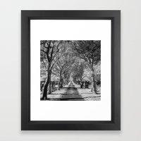 Cemetery path. Framed Art Print