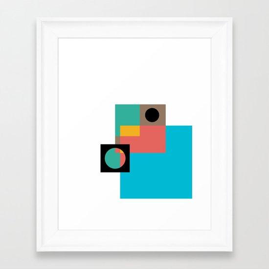 Geometric Crazy 1 Framed Art Print