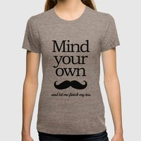 Mind your own... Womens Fitted Tee Tri-Coffee SMALL