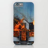 iPhone Cases featuring House on Fire by FAMOUS WHEN DEAD
