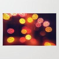 Orange Lights Rug