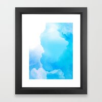 Cloud Blue Framed Art Print
