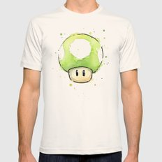 1UP Mushroom  Mens Fitted Tee Natural SMALL