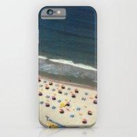 Tel-Aviv beach at summer, high from above, Israel, scaned sx-70 Polaroid iPhone 6 Slim Case