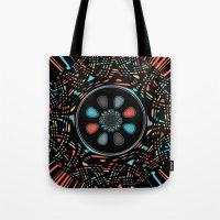 Abstract on black Tote Bag