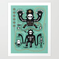 Art Print featuring Chamanistik In Blue by Exit Man