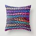 Colourful Layers  - JUSTART ©, edited photography Throw Pillow