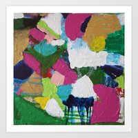 home - abstract painting Art Print