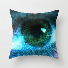 Water Eye Throw Pillow