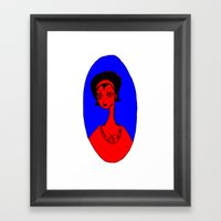 Housewife in Red Framed Art Print