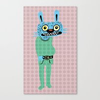 HIPSTER BUNNY Canvas Print