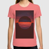 Black Sun Womens Fitted Tee Pomegranate SMALL
