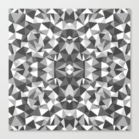 Abstract Colide Black and White Canvas Print