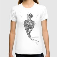 Queen Of Carbon II Womens Fitted Tee White SMALL