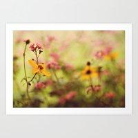 Lemon Drop Flower Box Art Print