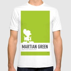 No15 My Minimal Color Code poster Marvin SMALL Mens Fitted Tee White