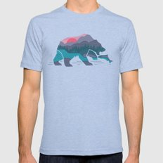Bear Country Mens Fitted Tee Tri-Blue SMALL