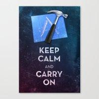 Keep Calm Xcode Canvas Print