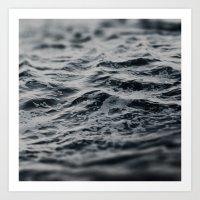 Ocean Magic Black And Wh… Art Print