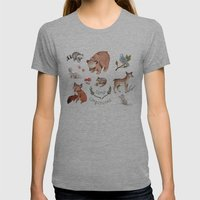 Camp Companions Womens Fitted Tee Athletic Grey SMALL