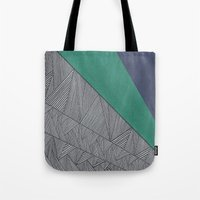 Black, Turquois, Dark Bl… Tote Bag