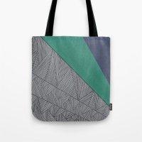 Black, Turquois, Dark Blue Tote Bag