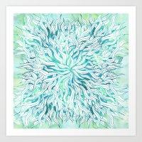 Summer Modern Blue Turqu… Art Print