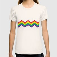 Rainbow 1 Womens Fitted Tee Natural SMALL
